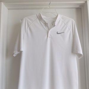 Nike Golf Blade Collar White Polo Medium